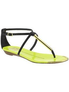 DV by Dolce Vita Archer Sandals -  These would look darling with either the yellow pants and eyelet top or the white pants and yellow top! So versatile.