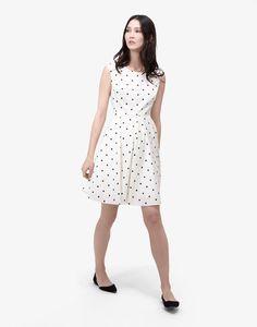 Amelie Black Spot Woven Dress