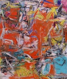 Willem de Kooning, Composition, 1955. Oil, enamel, and charcoal on canvas, 79 1/8 x 69 1/8 inches (201 x 175.6 cm)