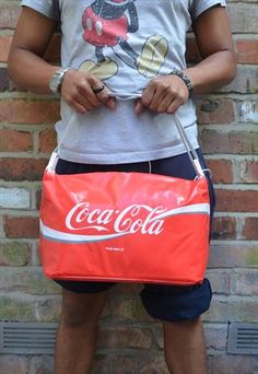 Mens Vintage Red Coca Cola Bag