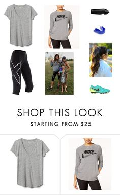 """Football training"" by brooke-redpathbont ❤ liked on Polyvore featuring Gap and NIKE"