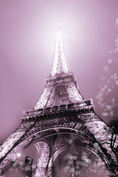 Evie Photograph - Pink Eiffel Tower Paris by Evie Carrier