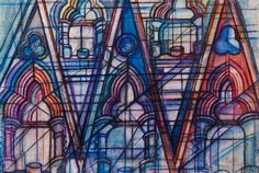 York Minster, South Transept. Multi-media on canvas