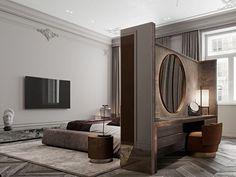 Hotel Room Design, Bedroom Closet Design, Modern Bedroom Design, Master Bedroom Design, Bed Design, Home Bedroom, Home Interior Design, Bedroom Decor, Modern Classic Bedroom