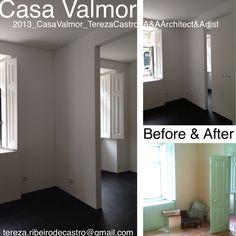 Tereza Castro_Before&After:  Renovation / rehab / reset / control of constructive pathologies / Lisbon center / Avenidas Novas: Apartment of 1930 with 120 sm & 60 sm of exterior  courtyard.