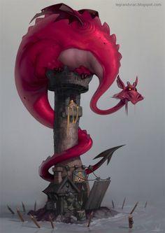 Une nouvelle cabane, fournie avec son dragon, sa princesse, et son orque gardien. Une version plus grande est dispo en cliquant sur l'image....