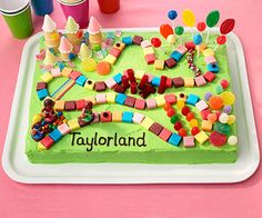 Candy Land Cake! Love this cake!