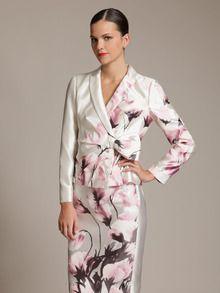 Valentino silk flower jacket & skirt
