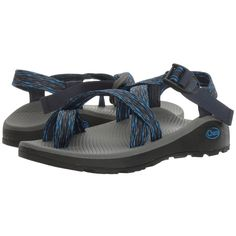 Chaco Z/Cloud 2(r) (Olas Blue) Men's Sandals ($110) ❤ liked on Polyvore featuring men's fashion, men's shoes, men's sandals, mens blue sandals, mens arch support sandals, mens buckle shoes, mens sandals and mens toe ring sandals