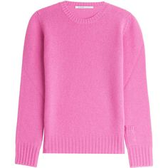 Agnona Cashmere Pullover (3 985 SEK) ❤ liked on Polyvore featuring tops, sweaters, pink, agnona, cashmere tops, pullover tops, sweater pullover and pink sweater