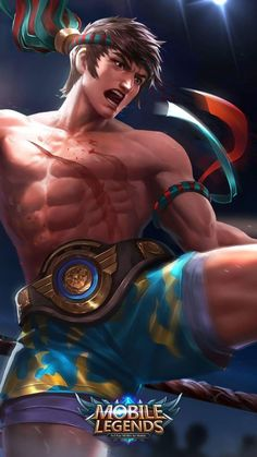 Wallpaper Chou King of Muay Thai Skin Mobile Legends Full HD for Android and iOS Bruno Mobile Legends, Miya Mobile Legends, Mobile Legend Wallpaper, Hero Wallpaper, Supreme Wallpaper, Wallpaper Naruto Shippuden, Naruto Wallpaper, Mobiles, Alucard Mobile Legends