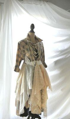 Summer+lagenlook | Lagenlook coat, women's duster, altered, romantic country clothes ...