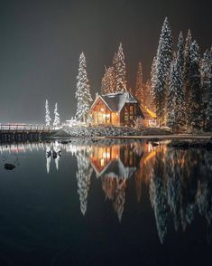 Save yourself the trouble of trying to come up with a creative winter Instagram caption on your own and pick one of these caption ideas for your next snow day post. Winter Szenen, Winter Time, Winter Christmas, Winter Cabin, Winter Night, Snow Cabin, Cozy Cabin, Winter Season, Hello Winter
