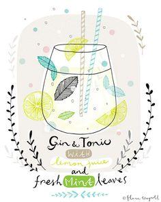 Gin and tonic art - Flora Waycott