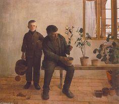 'Giardinieri' di Karoly Ferenczy (1862-1917, Hungary)
