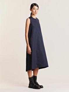 Lucas Nascimento Women's Grosgrain Silk Front Flare Dress