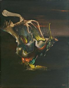 """Surrealist painter and sculptor Enrico Donati (American: 1909 – - """"St. Elmo's Fire"""", 1944 Abstract Expressionism, Abstract Art, Esoteric Art, Art Database, Museum Of Modern Art, Occult, New Art, Art History, Oil On Canvas"""
