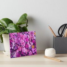 Purple Floral Spray by gritandglitter | Redbubble