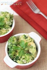 "Broccoli and ""Rice"" Casserole - Living Low Carb One Day At A Time"