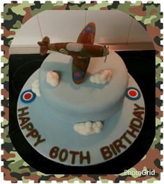 Edible model spitfire cake. Www.thepurplewhisk.co.uk