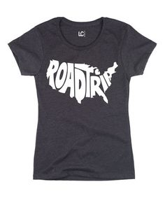 Look what I found on #zulily! Heather Charcoal 'Road Trip' Crewneck Tee #zulilyfinds