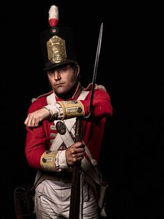 Justin Griffiths, private, 44th (East Essex) Regiment of Foot  Griffiths, 43, 'It gives you a real sense of what a red-coated infantry soldier of the time would have experienced. And besides, you fire a musket.' He has been re-enacting for a decade and takes part in events all over Europe. Unseen Waterloo: The Conflict Revisited is at Somerset House, London WC2, June 12-August 31 (unseenwaterloo.co.uk). The accompanying book (Impress, £60) will be published on June 15 Picture: Sam Faulkner