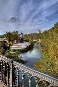 Here is another gorgeous shot of the Tiber river when we visited. This river has a god in ancient Roman mythology. Tiberinus assisted Aeneas and the Trojan exiles when they made their way into Latium.