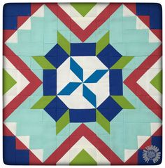 Tumbleweed Crossroads Quilt Block by Thistle Thicket Studio