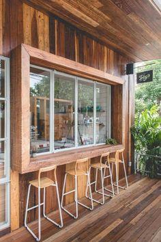 Stunning Ideas for a balcony bar and oyster company exclusive on omah home decor Cafe Shop Design, Restaurant Interior Design, Shop Interior Design, Small Coffee Shop, Cafe Concept, Balkon Design, Café Bar, Cafe House, Cafe Bistro