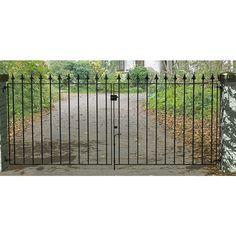 Metpost Montford Black Metal Double Garden & Driveway Gates