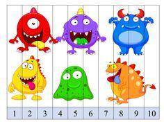 Aprender los números del 1 al 10 con estos puzzles de números divertidos SUPERIMÁGENES