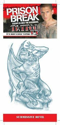 Prison Break submissive Devil Tattoos C4L. $2.95