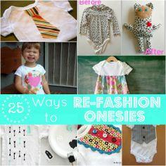 DIY Round UP: 25 Ways to Re-Fashion a Onesie