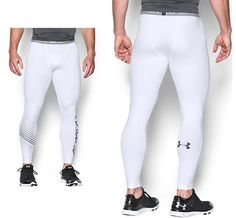 82cf526999951 Under Armour Heat Gear Compression Fitted 3/4 Tight Leggings Sz 2xl | eBay.  Mens ...