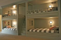 This would have been fun growing up.  One bed for Ernie, one for Adri, one for Mari and one for me!  :)