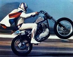 Evel Knievel.  He seemed like just about the coolest guy ever.  Every time he did one of his stunts, it was a major happening.