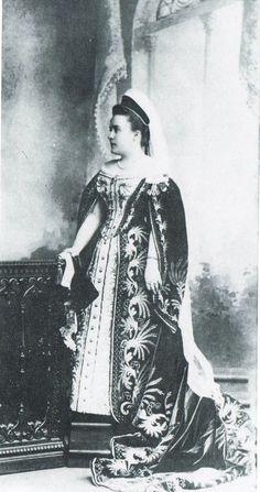 Princesse Anna Borisovna Galitzine, nee princesse Stcherbatoff in Russian court dress