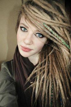 #dreadlocks #dreads #dread+fashion #boho #hippie #bohemian #dreadhead