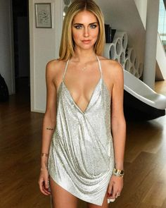 Chiara Ferragni wearing a custom made Swaroski shiny dress for her birthday party Sexy Outfits, Sexy Dresses, Juicy Couture, Foto Glamour, Sexy Women, Photographie Portrait Inspiration, New Mode, Look Street Style, The Blonde Salad