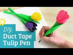▶ How to Make a Duct Tape Flower Pen - YouTube