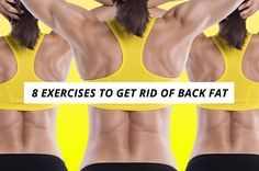 8 Exercises to Get Rid of Back Fat For more workouts join my newsletter at www.custombodz.com #backexercises #backfat #backworkout