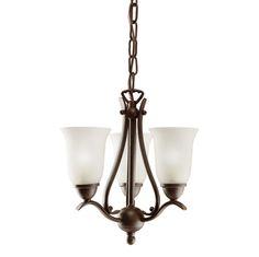 Kichler Pendant Lighting | Dover Pendalette 3-Light Incandescent, Tannery Bronze (1731TZ)
