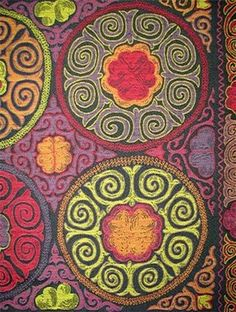 Rio Swirl Night Sky Fabric - eclectic - fabric - HouseFabric