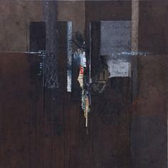 On recherche... collages & technique mixte sur toile, 100 x 100cm - 2016