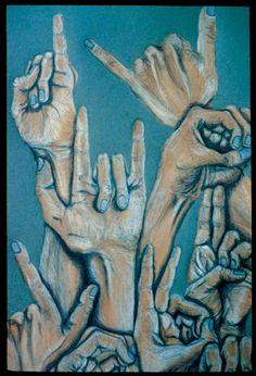 Melissa Regas (Deaf Artist) ASL art - ILY .. Absolutely beautiful