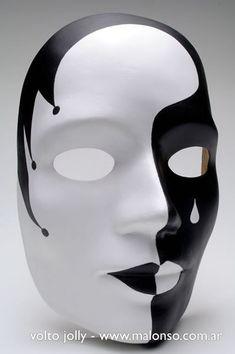 Resultado de imagen para mascaras de yeso de blanco y - Mascaras venecianas decoracion ...