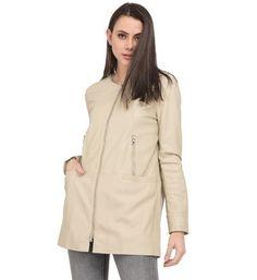 Maje Manteau pour femme en mouton ??cru