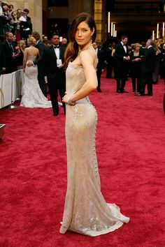 Jessica Biel at the 86th annual Oscars on March 2, 2014