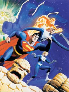 Superman and the Fantastic Four//Dan Jurgens and Alex Ross