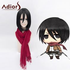 Ladylike Lolita Bob Style Mikasa Ackerman Straight Cosplay Wig For Women #>=#>=#>=#>=#> Click on the pin to check out discount price, color, size, shipping, etc. Save and like it!